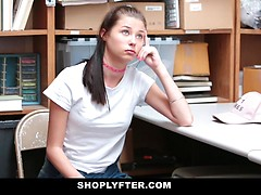 Marvelous young shoplifter girl Carolina Sweets agreed to get her tight twat fuck by an LP officer in exchange of setting her free after she gets caught in jewelry aisle trying to steal a merchandise.