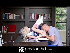 Student fucks her handsome tutor.