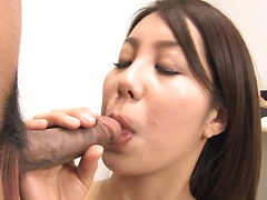 Hikaru Matsu moans while riding a stiff boner